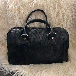 BCBGMAXAZRIA Black Snake satchel